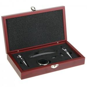 Винный набор в шкатулке на 5 предметов набор винный керамика ручной работы ружье 7 предметов