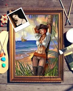 Фото - Портрет по фото *Девушка на острове* портрет по фото на охоте