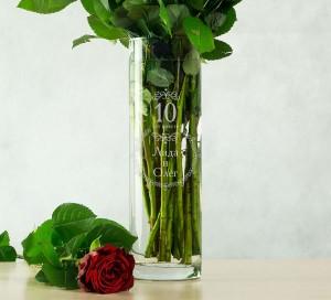 Именная ваза для цветов С годовщиной цена