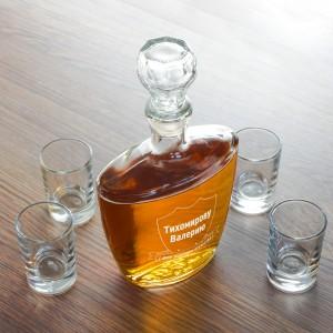 Штоф для напитков С Днем Защитника Отечества блокнот с днем защитника отечества 32 листа