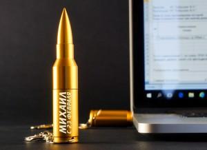 Флешка Пуля 16 Гб с гравировкой автомат калашникова пневматический в москве