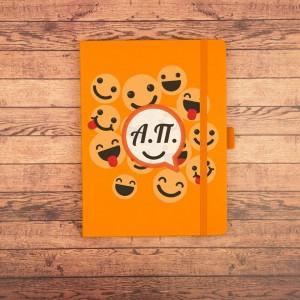 Ежедневник с инициалами Оранжевое настроение желай делай ежедневник