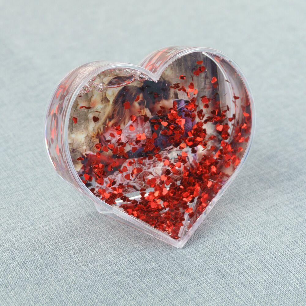 Водяной шар - фоторамка «Сердце» - 3