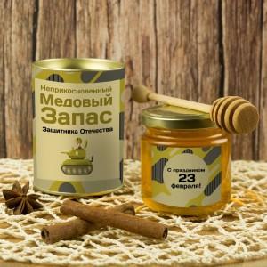 Подарочный мед «Медовый запас защитника Отечества» неприкосновенный запас 5 115 2017