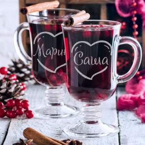 Набор именных бокалов «Влюбленные» набор бокалов для бренди коралл 40600 q8105 400 анжела