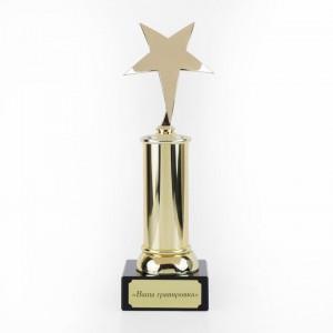 Статуэтка с Вашей гравировкой Звезда статуэтки parastone статуэтка герти шиле эгона шиле