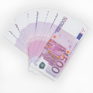 Забавная пачка денег - 500 евро