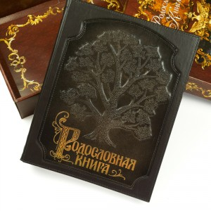 Родословная книга (кожа) дневники фолиант книга родословная книга