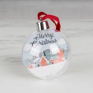 Елочный шар с фотографией елочный шар снежное плетение ку 100 11 17 диаметр 10 см