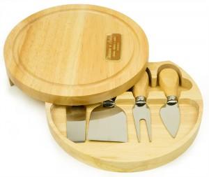 Именной набор для сыра Гурман набор кухонных ножей квартет с подставкой