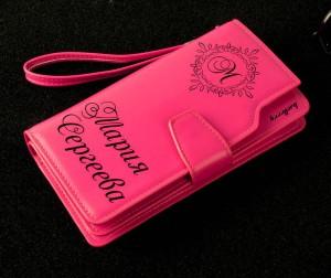 Именной портмоне-клатч Престиж кошелек портмоне блэк ориджинал