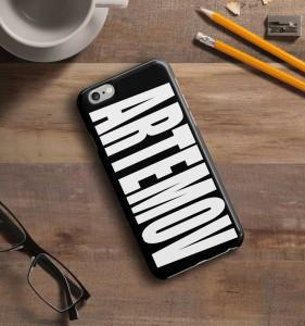Именной чехол для iPhone Знаменитость черный именной чехол для iphone знаменитость черный
