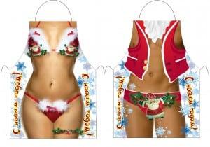 Комплект фартуков Дед Мороз и Снегурочка русские подарки новогодний сувенир дед мороз и снегурочка