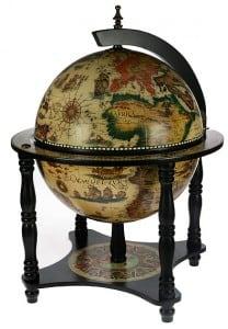 Глобус-бар Оригинал с подставкой глобус бар на изогнутых ножках элегант