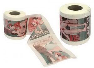 Туалетная бумага *Камасутра* туалетная бумага 500 евро