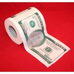 Туалетная бумага 100 долларов туалетная бумага 500 евро