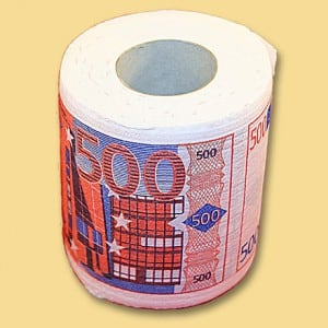 Туалетная бумага 500 евро футболка print bar амстердам