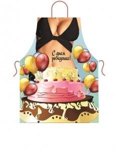 Прикольный фартук *Девушка из торта* цены онлайн