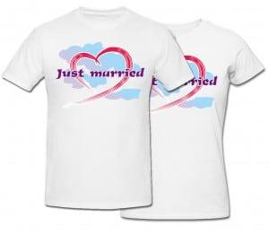 Комплект футболок *Just Married* арахис именной just married