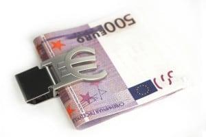 купить Зажим для денег *Евро* с гравировкой недорого