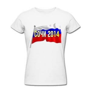 Футболка *Сочи 2014* женская авито сочи одежда волонтеров 2014 б у