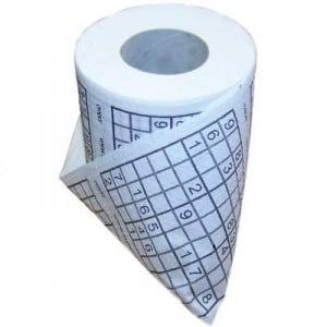 Туалетная бумага *Судоку* туалетная бумага 500 евро