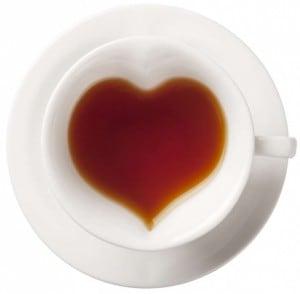 Чашка с блюдцем Сердце