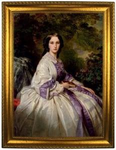 Портрет по фото *Дама с книгой* портрет по фото в платье с красным поясом