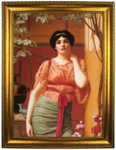 Портрет по фото *В платье с красным поясом* портрет по фото в платье с красным поясом