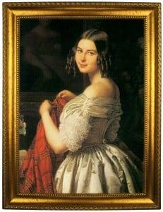 Портрет по фото *Молодая женщина и цветы* цветы жарки фото