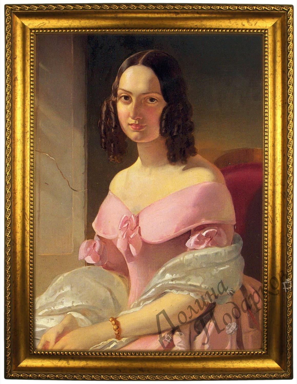 Портрет по фото *Леди в розовом*