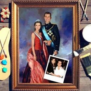 Парный портрет по фото *Принцесса и принц* hcms 2972 hcms2972 2972 dip14 page 1
