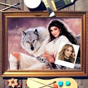 Фото - Портрет по фото *Девушка с волком* портрет по фото мужчина с шпагой