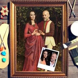 Фото - Парный портрет по фото *В лесу* парный портрет по фото влюбленная пара