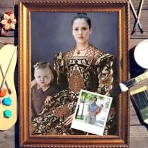 Фото - Парный портрет по фото *Мама с ребенком* парный портрет по фото роскошная пара