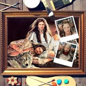 Фото - Парный портрет по фото *Животная страсть* парный портрет по фото влюбленная пара