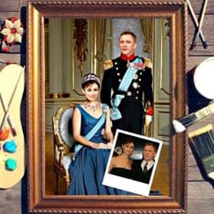 Фото - Парный портрет по фото *Принц и принцесса* парный портрет по фото у камина