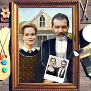 Фото - Парный портрет по фото *Американская готика* парный портрет по фото влюбленная пара