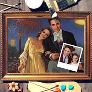 Фото - Парный портрет по фото *Праздничная прогулка* парный портрет по фото роскошная пара
