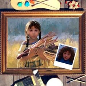 Портрет по фото *Индейская девочка*