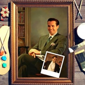 Фото - Портрет по фото *Мужчина с газетой* портрет по фото мужчина с шпагой
