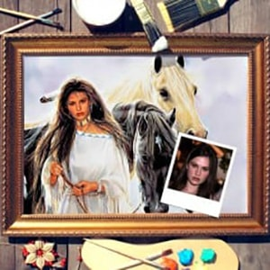 Фото - Портрет по фото *Девушка с лошадьми* портрет по фото мужчина с шпагой