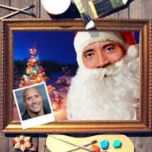 Новогодний портрет по фото *Дед Мороз* русские подарки новогодний сувенир дед мороз и снегурочка