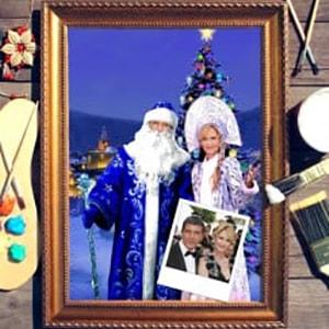 Парный портрет по фото *Дед Мороз и Снегурочка*