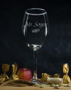 Именной бокал для вина Мистер именной бокал новогодний вечер
