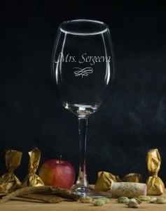 Именной бокал для вина Миссис бокал для вина маки gabriel бокал для вина маки