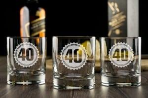 Набор бокалов для виски Праздничный большой набор бокалов для виски с вашей гравировкой