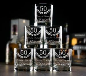 Большой набор бокалов для виски Юбилейный именной набор для выращивания свадебного дерева