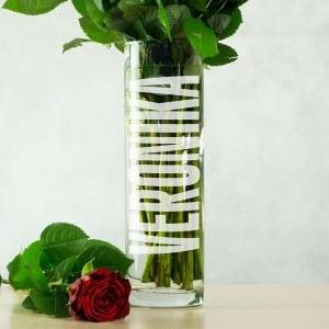 Именная ваза для цветов ваза для цветов любимой мамочке