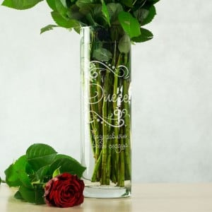 Именная ваза для цветов Поздравительная ваза для цветов с годовщиной